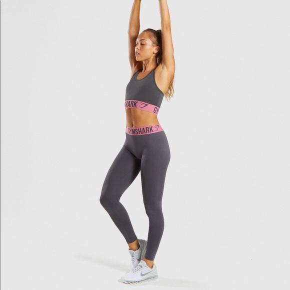 3e052ed513837 Gymshark Pants   Fit Leggings Charcoal Purple New Small   Poshmark
